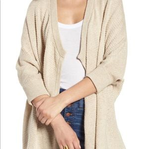 Tan Madewell Open Front Cardigan